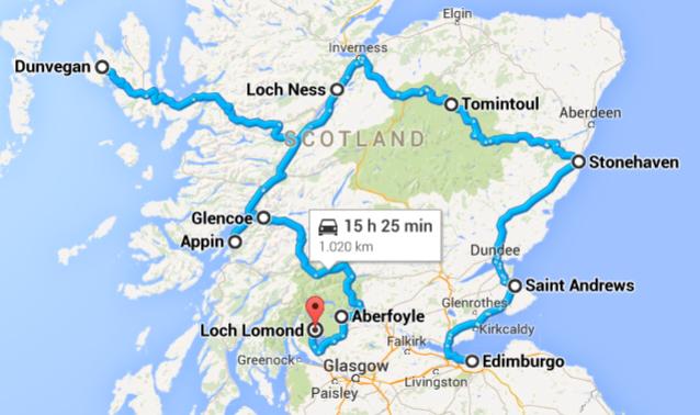 itinerario scozia