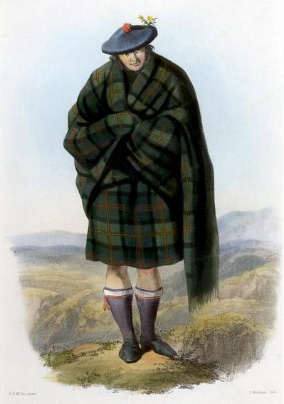 Highlander che indossa il
