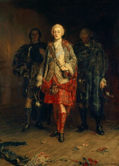 Bonnie Prince Charlie Entering the Ballroom at Holyroodhouse - John Pettie 1892