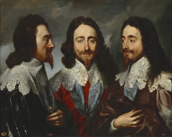 Un'originale ritratto di Carlo I: Charles in three positions, di Anthony van Dyck, (1635–36)