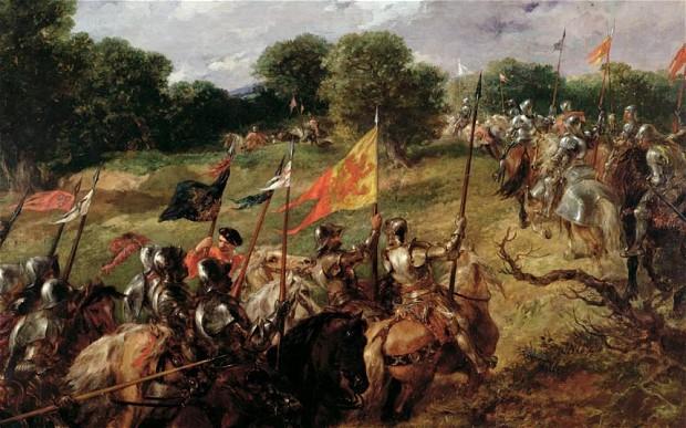 Battaglia di Flodden, 1513, dipinto di George Goodwin