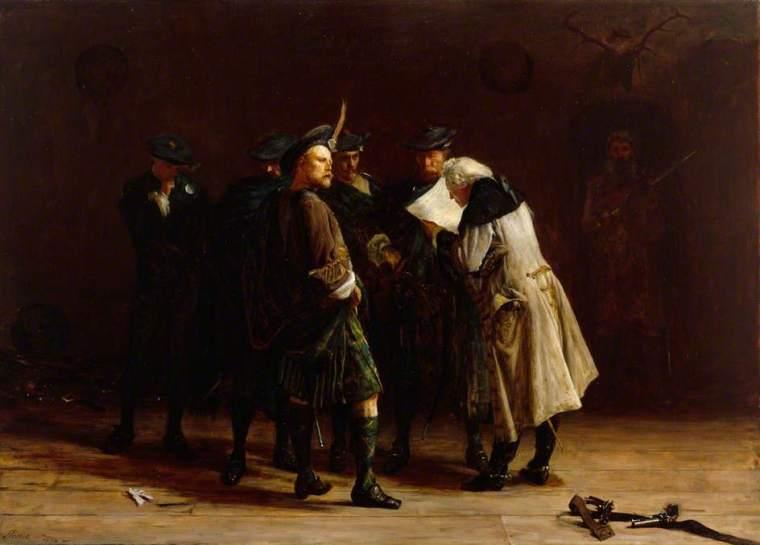 Jacobites. Un gruppo di giacobiti dipinto da John Pettie (1864)