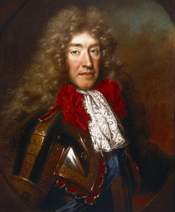 Giacomo Stuart, VII d'Inghilterra, ritratto di Nicolas de Largillière,  1686