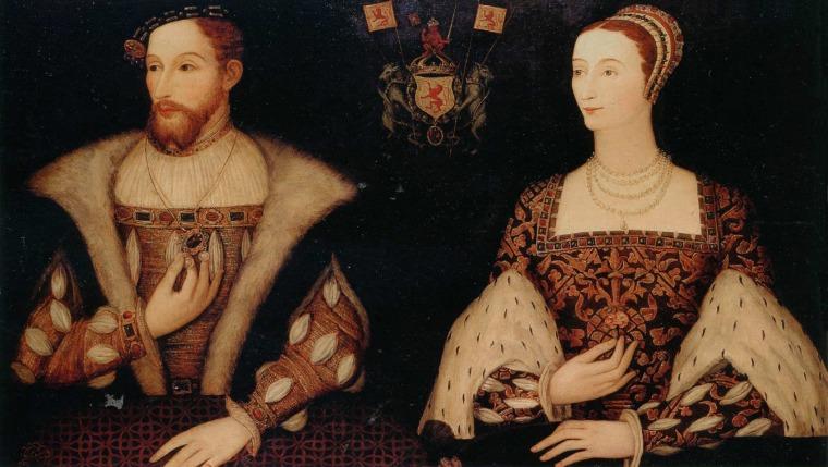James (Giacomo) V Stuart e la moglie Maria di Guisa