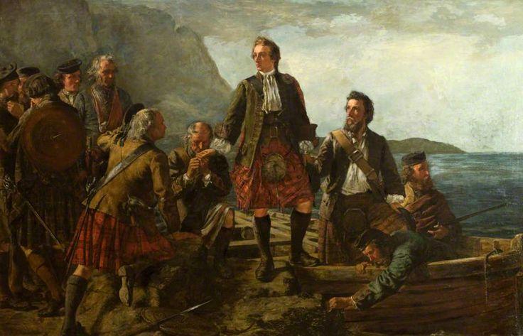 'Lochaber No More', Prince Charlie Leaving Scotland -John Blake MacDonald 1863. Il Principe Charles lascia la Scozia dopo la sconfitta di Culloden