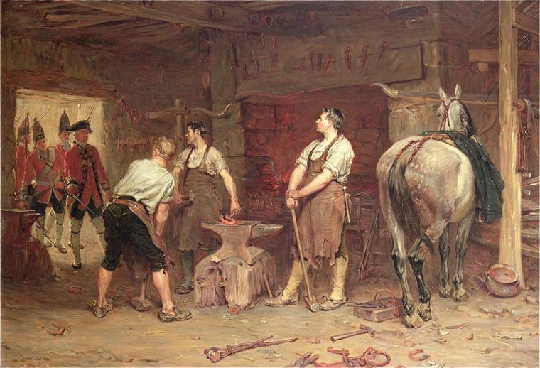 Rebel hunting after Culloden - caccia ai ribelli dopo Culloden, dipinto del 1884