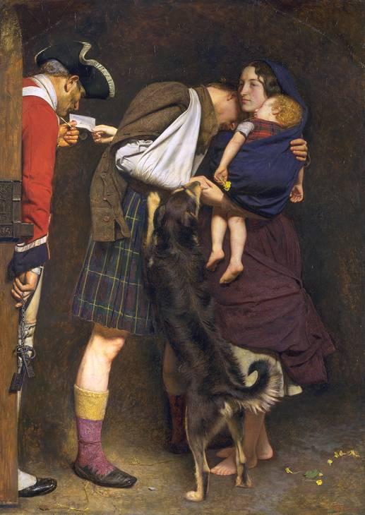 The Order of Release 1746, dipinto da Sir Henry Tate nel 1898. Il quadro raffigura la moglie di un ribelle giacobita, che era stato imprigionato dopo le rivolte del 1745, che presenta l'ordine di rilascio del marito ad un soldato inglese.