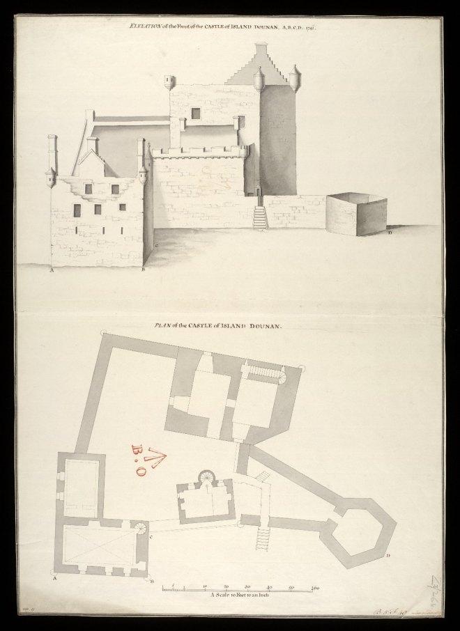 Il disegno di Louis Petit, che aveva raffigurato una mappa del castello nel 1714