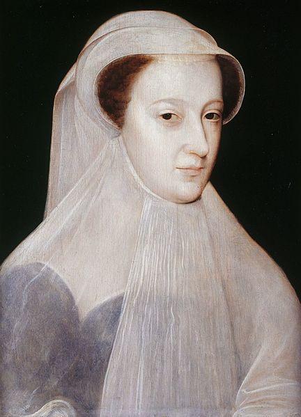 Ritratto di Mary Stuart, vedova e in lutto a 18 anni – dipinto di François Clouet