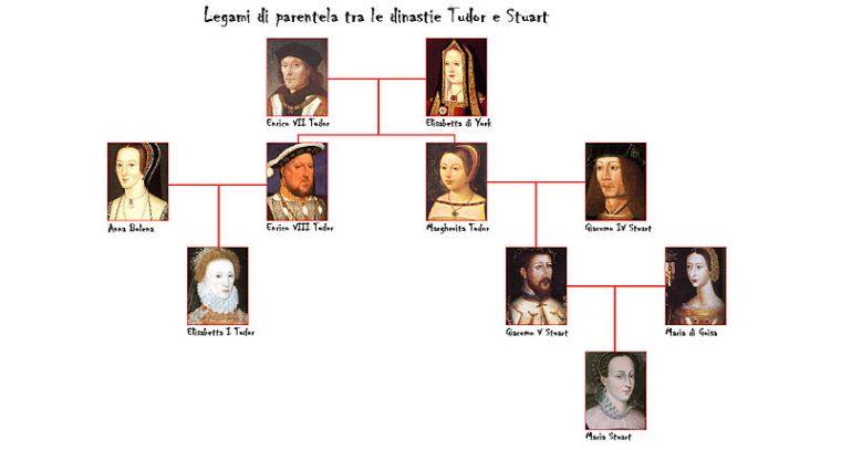 Albero genealogico raffigurante la discendenza comune di Mary Stuart ed Elisabetta Tudor (fonte: http://ladyreading.forumfree.it/?t=14651262&st=60)
