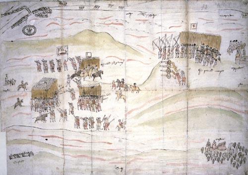 L'immagine mostra la sconfitta dell'esercito di Mary Stuart a Carberry Hill