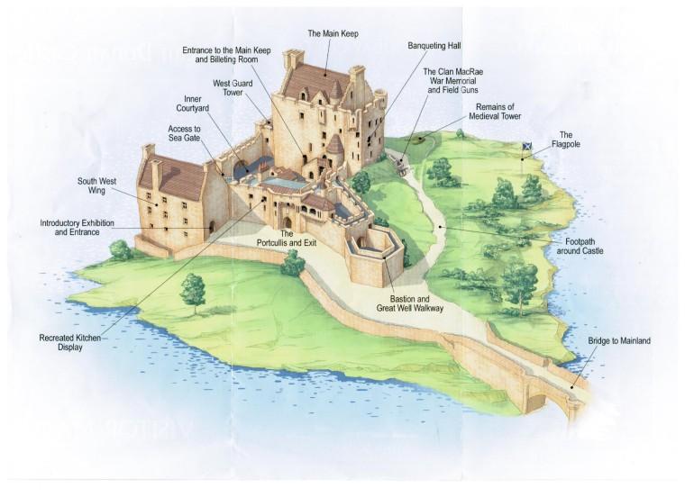 eilean donan castle map