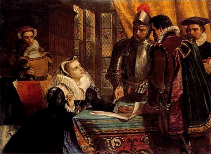 The abdication of Queen Mary - dipinto di Charles Lucy, 1868