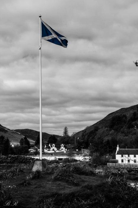 eilean donan castle bandiera flag