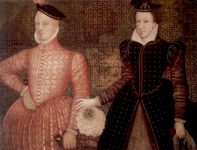 Lord Darnley and Mary, Queen of Scots -  circa 1565