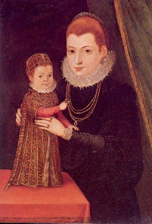 Mary ed il figlio James, ritratti da un artista sconosciuto.
