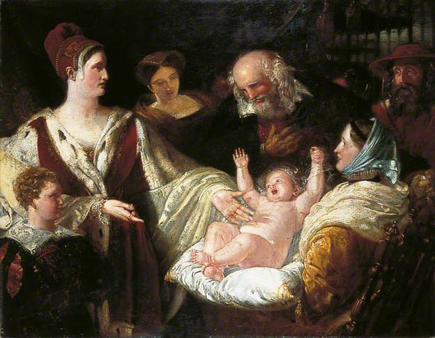 Mary, Queen of Scots When an Infant by Benjamin Haydon