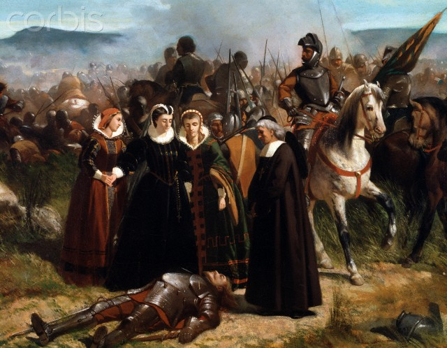 Mary Stuart at the Battle of Langside  - dipinto di giovanni fattori
