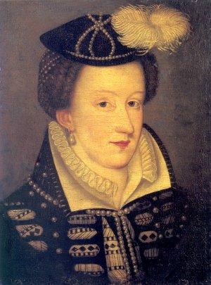 Ritratto in miniatura di Mary Stuart, databile 1565