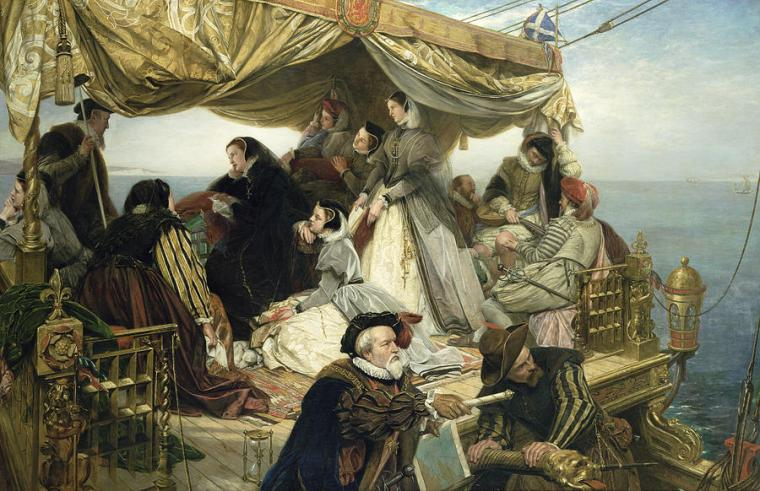Mary Stuart's Farewell To France - by Henry Nelson O'neil