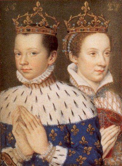 Mary Stuart (a 17 anni) e Francesco II (a 15 anni) nel 1559
