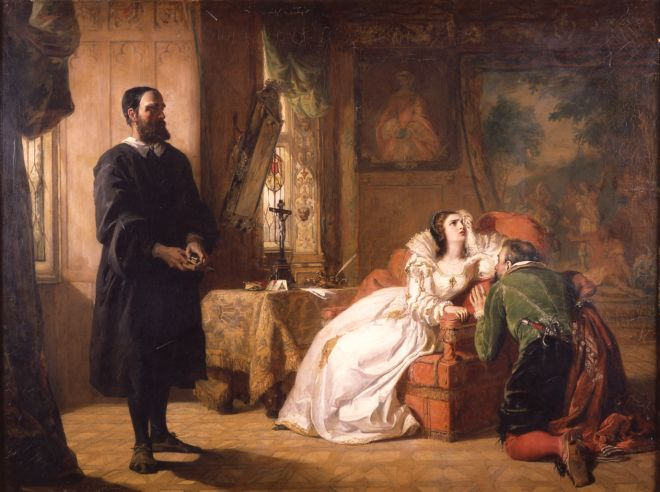 John Knox Reproving Mary Queen of Scots (1844) by William Powell Frith