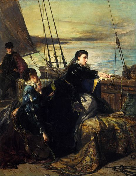 Mary Stuart leaving France - by Robert Herdman, 1867