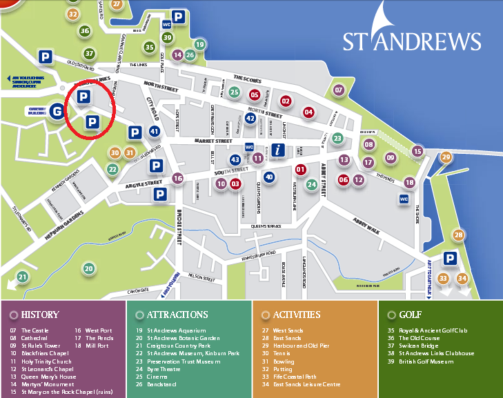 saint andrews map