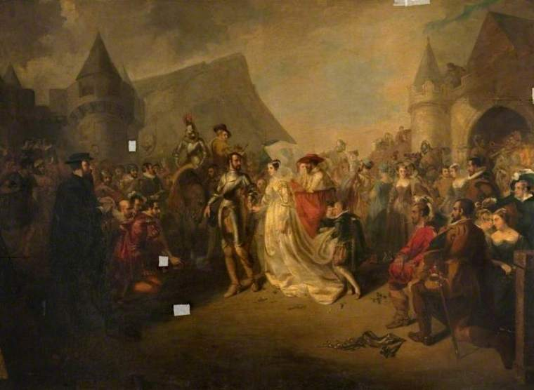 The Marriage of Mary, Queen of Scots, and the Earl of Bothwell - artista sconosciuto