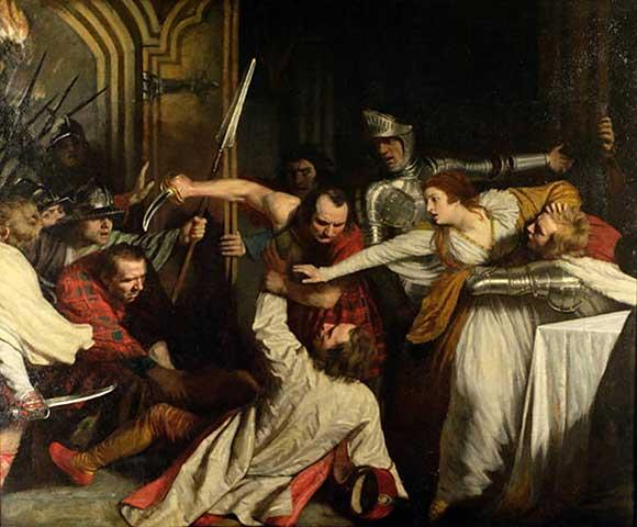 The Murder of Rizzio, March 9, 1566  (John Opie)