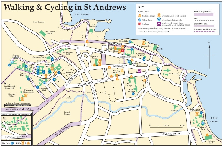 saint andrews scotland map