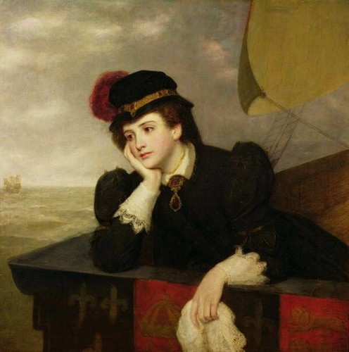Mary Stuart returning from France - by William Powell