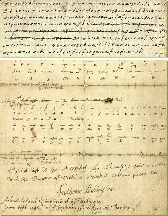 Lettera codificata indirizzata a Mary Stuart