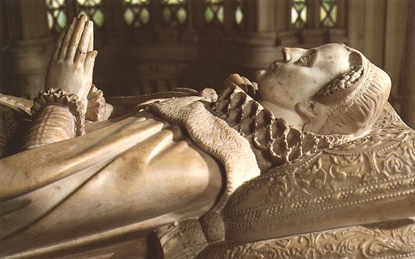 La tomba di Mary Stuart nell'abazia di Westminster