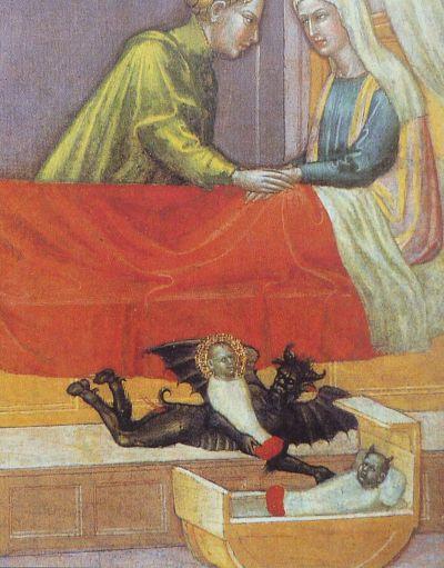 """Dettaglio dell'opera """"The Legend of St. Stephen"""" di Martino di Bartolomeo -  XV secolo"""