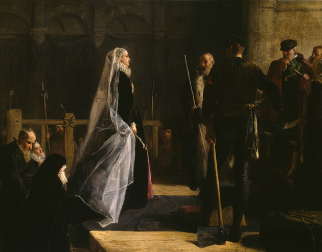 Execution of Mary, queen of scots - dipinto di  Robert Herdman ,1867