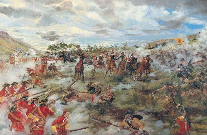 The Battle of Killiecrankie - dipinto di Alan B Herriot