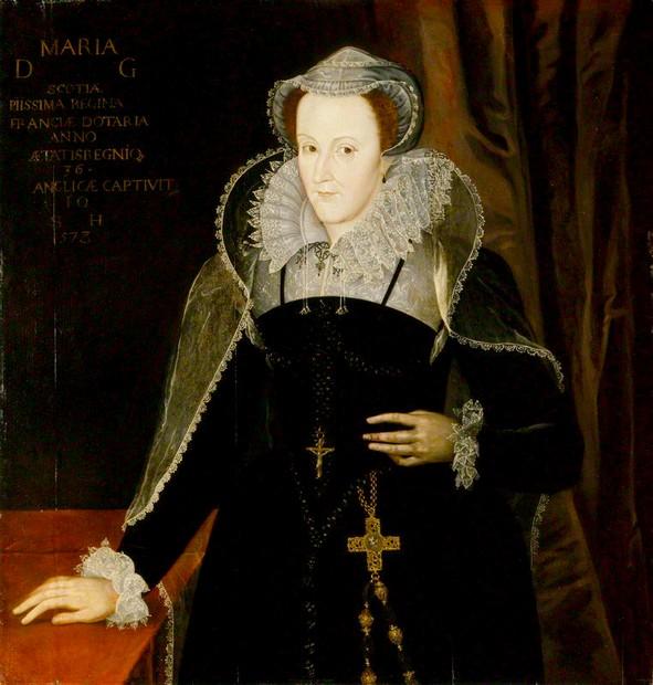 Mary durante la sua cattività in Inghilterra - dipinto di Nicholas Hilliard, 1578