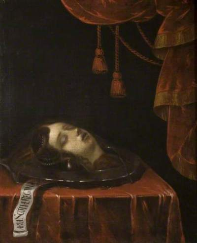 The head of Mary queen of scots after her execution - dipinto di federico zuccaro