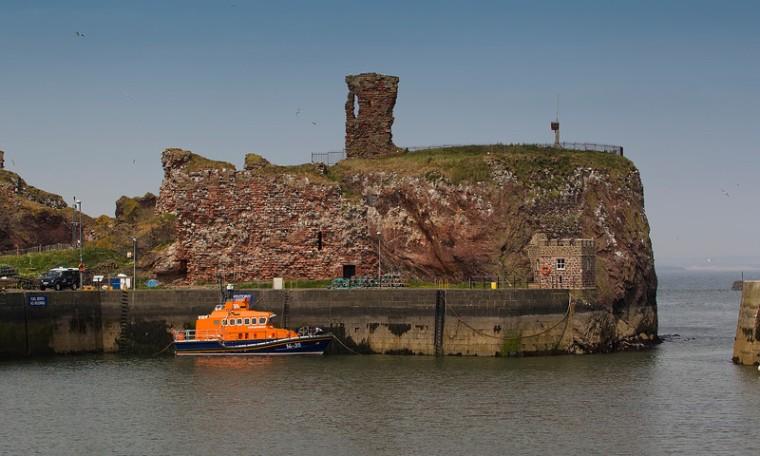 Ciò che rimane oggi di Dunbar Castle