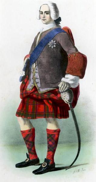 Riproduzione ottocentesca di un membro del Clan Stewart
