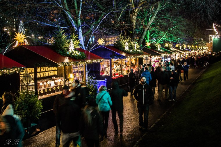 Edinburgh Edimburgo Christmas markets