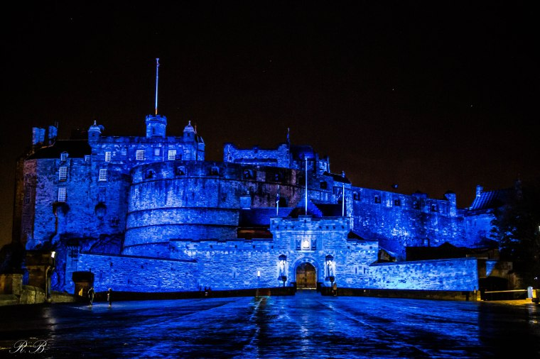 Ednburgh Castle Castello Edimburgo notte night