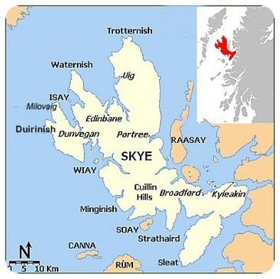 mappa isola di Skye