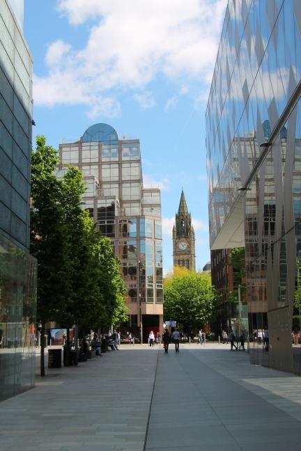 Scorcio per le vie di Manchester