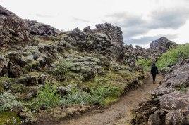 Passeggiando in mezzo alla lava