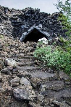La chiesa lavica all'interno di Dimmuborgir