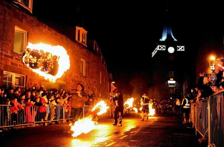 The Stonehaven Fireballs - December 31, 2014.Picture by COLIN RENNIE