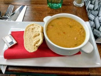 zuppa di lenticchie e bacon