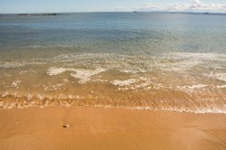 La spiaggia dopo il promontorio di Elie